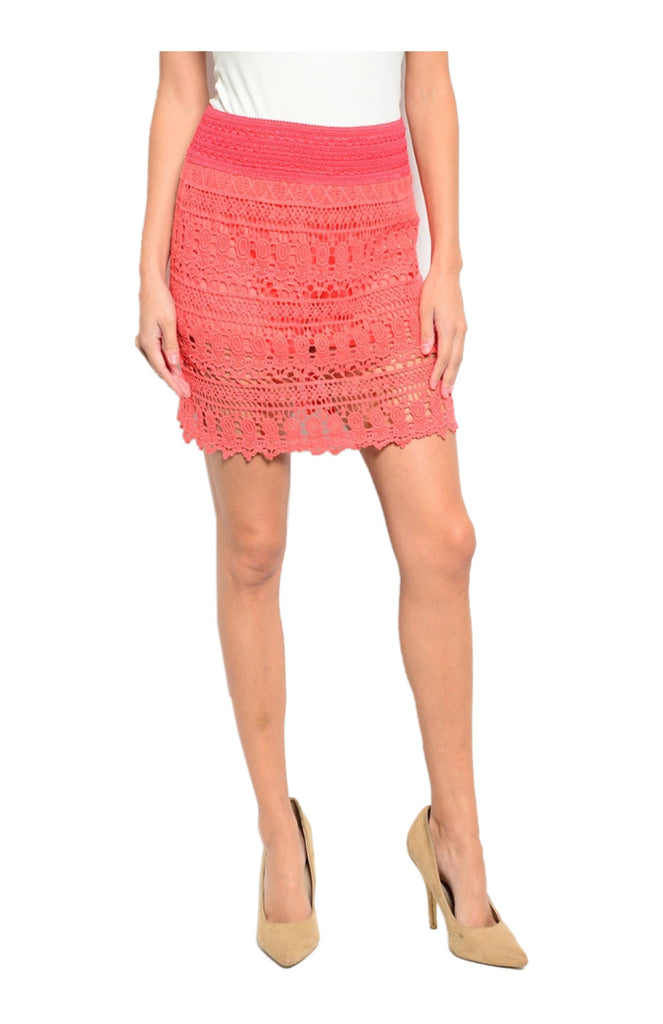 Dressy Crochet Lace Pencil Skirt - BodiLove | 30% Off First Order  - 7