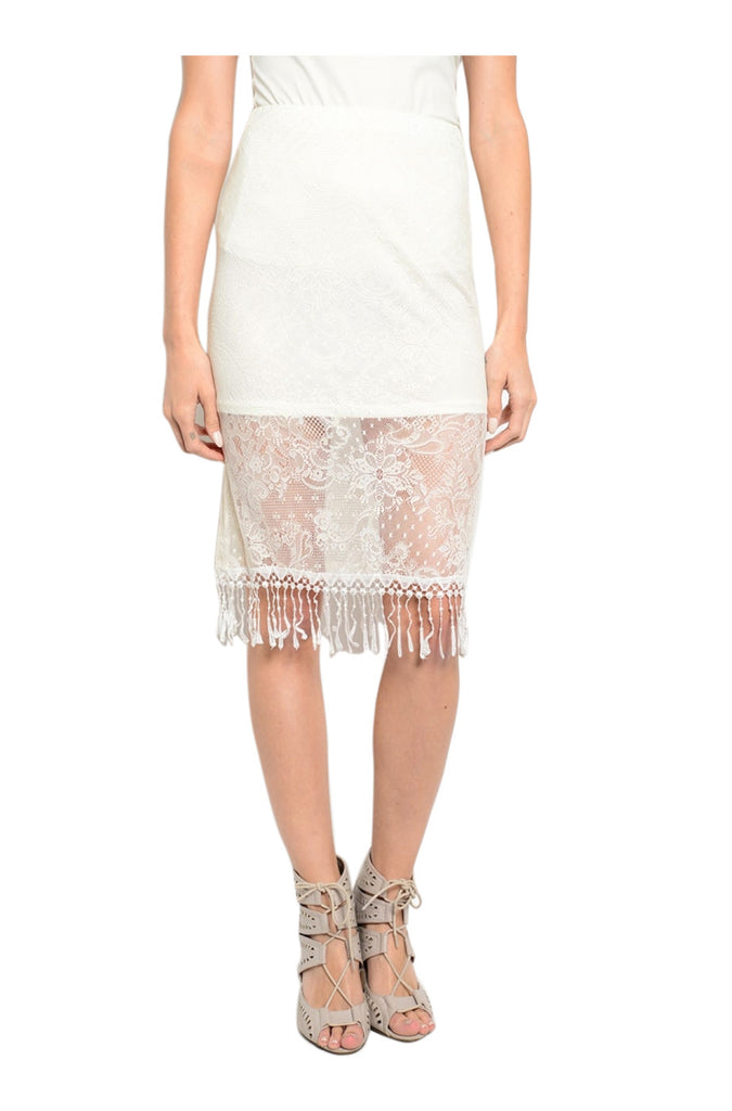 Dressy Lace High Waisted Pencil Skirt - BodiLove | 30% Off First Order  - 1