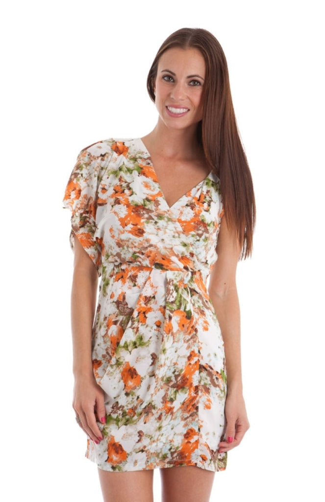 Floral Wrap Asymmetrical Dress - BodiLove | 30% Off First Order  - 1