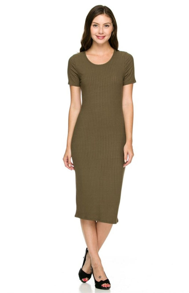 Dressy Short Sleeve Bodycon Midi Dress - BodiLove | 30% Off First Order  - 9