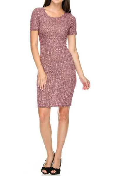 Dressy Short Sleeve Bodycon Midi Dress - BodiLove | 30% Off First Order - 1