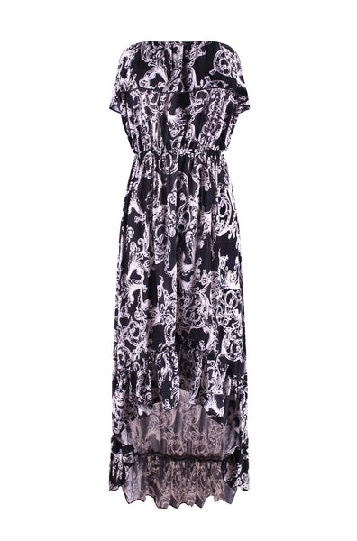 Strapless Antique Prints Hi-Lo Summer Holiday Resort Beach Dress - BodiLove | 30% Off First Order  - 1