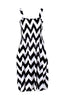 Two-Tone Chevron Prints Easy-Fit Midi/Mini Summer Holiday Resort Beach Dress - BodiLove | 30% Off First Order  - 1
