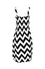 Two-Tone Chevron Prints Easy-Fit Midi/Mini Summer Holiday Resort Beach Dress - BodiLove | 30% Off First Order  - 2