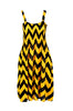 Two-Tone Chevron Prints Easy-Fit Midi/Mini Summer Holiday Resort Beach Dress - BodiLove | 30% Off First Order  - 4
