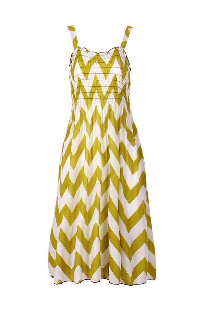 Two-Tone Chevron Prints Easy-Fit Midi/Mini Summer Holiday Resort Beach Dress - BodiLove | 30% Off First Order  - 7