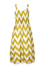 Two-Tone Chevron Prints Easy-Fit Midi/Mini Summer Holiday Resort Beach Dress - BodiLove | 30% Off First Order  - 8