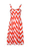 Two-Tone Chevron Prints Easy-Fit Midi/Mini Summer Holiday Resort Beach Dress - BodiLove | 30% Off First Order  - 9