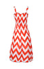 Two-Tone Chevron Prints Easy-Fit Midi/Mini Summer Holiday Resort Beach Dress - BodiLove | 30% Off First Order  - 11