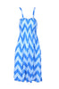 Two-Tone Chevron Prints Easy-Fit Midi/Mini Summer Holiday Resort Beach Dress - BodiLove | 30% Off First Order  - 13