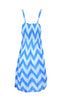 Two-Tone Chevron Prints Easy-Fit Midi/Mini Summer Holiday Resort Beach Dress - BodiLove | 30% Off First Order  - 14