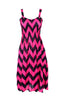 Two-Tone Chevron Prints Easy-Fit Midi/Mini Summer Holiday Resort Beach Dress - BodiLove | 30% Off First Order  - 15