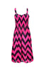 Two-Tone Chevron Prints Easy-Fit Midi/Mini Summer Holiday Resort Beach Dress - BodiLove | 30% Off First Order  - 17