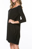 3/4 Sleeve A-Line Tunic Dress - BodiLove | 30% Off First Order  - 3