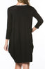 3/4 Sleeve A-Line Tunic Dress - BodiLove | 30% Off First Order  - 4