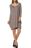 3/4 Sleeve A-Line Tunic Dress - BodiLove | 30% Off First Order  - 5