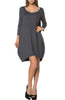 3/4 Sleeve A-Line Tunic Dress - BodiLove | 30% Off First Order  - 14