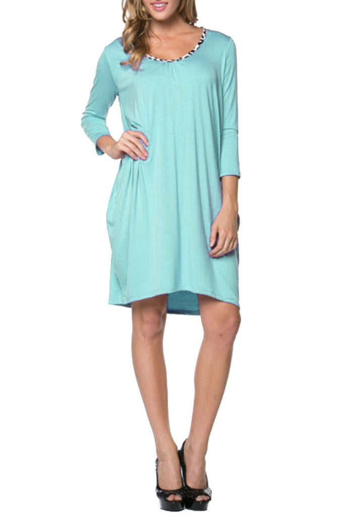 3/4 Sleeve A-Line Tunic Dress - BodiLove | 30% Off First Order  - 18