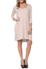 3/4 Sleeve A-Line Tunic Dress - BodiLove | 30% Off First Order  - 20