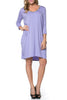 3/4 Sleeve A-Line Tunic Dress - BodiLove | 30% Off First Order  - 22