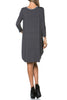 3/4 Sleeve A-Line Tunic Dress - BodiLove | 30% Off First Order  - 25