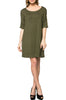 Short Sleeve A-Line Tunic Dress | 30% Off First Order | Olive
