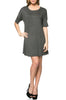 Short Sleeve A-Line Tunic Dress | 30% Off First Order | Charcoal