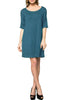 Short Sleeve A-Line Tunic Dress | 30% Off First Order | Teal