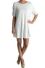 Short Sleeve A-Line Tunic Dress | 30% Off First Order | White