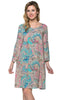 3/4 Bell Sleeve Oversize Tunic Dress - BodiLove | 30% Off First Order  - 3
