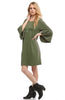 3/4 Bell Sleeve Oversize Tunic Dress - BodiLove | 30% Off First Order  - 21