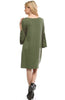 3/4 Bell Sleeve Oversize Tunic Dress - BodiLove | 30% Off First Order  - 22