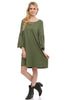 3/4 Bell Sleeve Oversize Tunic Dress - BodiLove | 30% Off First Order  - 23