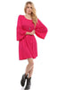 3/4 Bell Sleeve Oversize Tunic Dress - BodiLove | 30% Off First Order  - 25