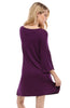 3/4 Bell Sleeve Oversize Tunic Dress - BodiLove | 30% Off First Order  - 30