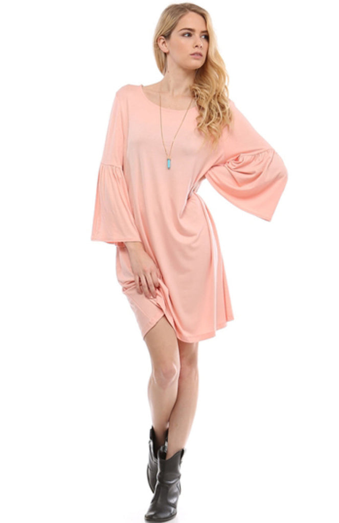 3/4 Bell Sleeve Oversize Tunic Dress - BodiLove | 30% Off First Order  - 33