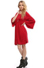 3/4 Bell Sleeve Oversize Tunic Dress - BodiLove | 30% Off First Order  - 39