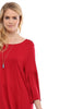 3/4 Bell Sleeve Oversize Tunic Dress - BodiLove | 30% Off First Order  - 40