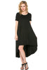 Short Sleeve Hi-Low Knit Dress - BodiLove | 30% Off First Order  - 1