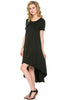 Short Sleeve Hi-Low Knit Dress - BodiLove | 30% Off First Order  - 3