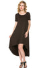 Short Sleeve Hi-Low Knit Dress - BodiLove | 30% Off First Order  - 8