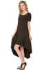 Short Sleeve Hi-Low Knit Dress - BodiLove | 30% Off First Order  - 10