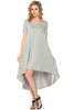Short Sleeve Hi-Low Knit Dress - BodiLove | 30% Off First Order  - 16