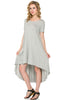 Short Sleeve Hi-Low Knit Dress - BodiLove | 30% Off First Order  - 18