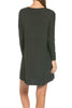 Oversized Long Sleeve Tunic Dress - BodiLove | 30% Off First Order - 62