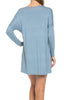 Oversized Long Sleeve Tunic Dress - BodiLove | 30% Off First Order - 50
