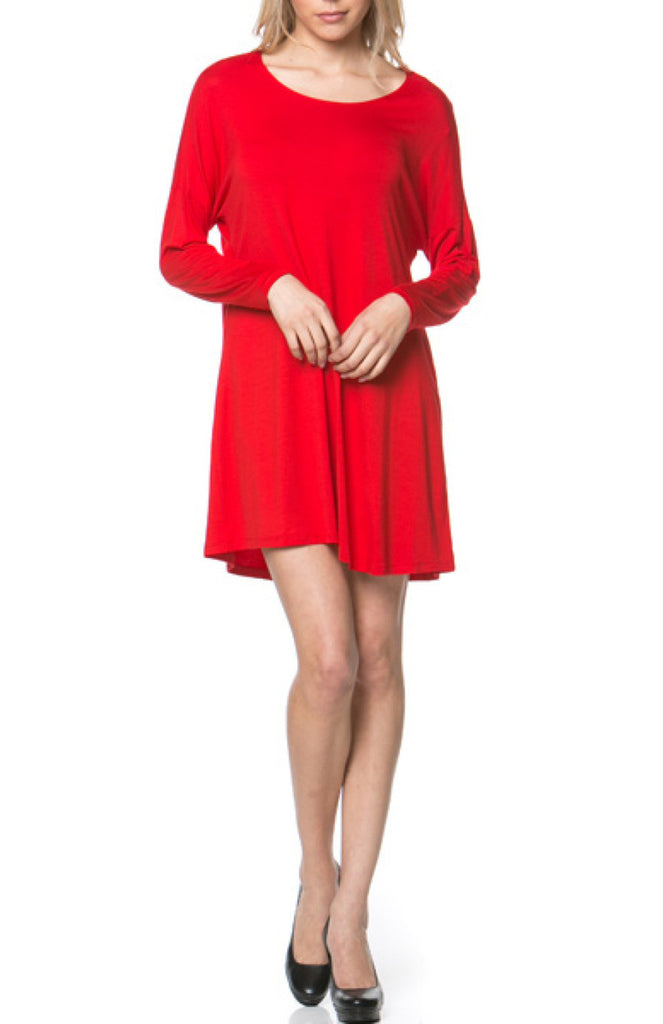 Oversized Long Sleeve Tunic Dress - BodiLove | 30% Off First Order - 40