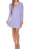 Oversized Long Sleeve Tunic Dress - BodiLove | 30% Off First Order - 25
