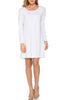 Oversized Long Sleeve Tunic Dress - BodiLove | 30% Off First Order - 42