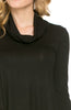 Long Sleeve Cowl Neck A-Line Tunic Dress - BodiLove | 30% Off First Order - 4